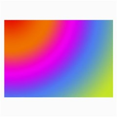 Radial Gradients Red Orange Pink Blue Green Large Glasses Cloth by EDDArt