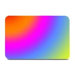 Radial Gradients Red Orange Pink Blue Green Plate Mats by EDDArt