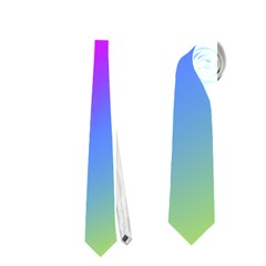 Radial Gradients Red Orange Pink Blue Green Neckties (two Side)  by EDDArt