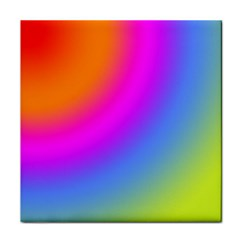 Radial Gradients Red Orange Pink Blue Green Face Towel by EDDArt