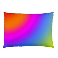 Radial Gradients Red Orange Pink Blue Green Pillow Case by EDDArt