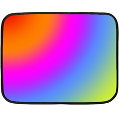 Radial Gradients Red Orange Pink Blue Green Fleece Blanket (mini) by EDDArt