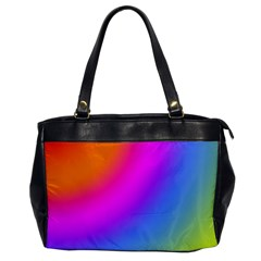 Radial Gradients Red Orange Pink Blue Green Office Handbags by EDDArt