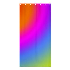 Radial Gradients Red Orange Pink Blue Green Shower Curtain 36  X 72  (stall)  by EDDArt