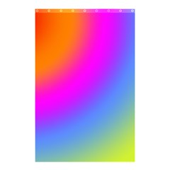 Radial Gradients Red Orange Pink Blue Green Shower Curtain 48  X 72  (small)  by EDDArt