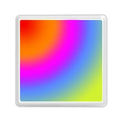 Radial Gradients Red Orange Pink Blue Green Memory Card Reader (square)  by EDDArt