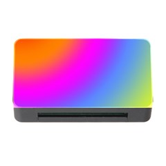 Radial Gradients Red Orange Pink Blue Green Memory Card Reader With Cf by EDDArt