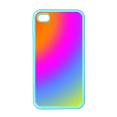 Radial Gradients Red Orange Pink Blue Green Apple Iphone 4 Case (color) by EDDArt