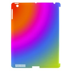 Radial Gradients Red Orange Pink Blue Green Apple Ipad 3/4 Hardshell Case (compatible With Smart Cover) by EDDArt