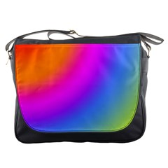Radial Gradients Red Orange Pink Blue Green Messenger Bags by EDDArt