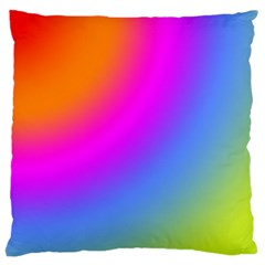 Radial Gradients Red Orange Pink Blue Green Large Cushion Case (one Side) by EDDArt