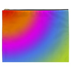 Radial Gradients Red Orange Pink Blue Green Cosmetic Bag (xxxl)  by EDDArt