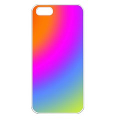 Radial Gradients Red Orange Pink Blue Green Apple Iphone 5 Seamless Case (white) by EDDArt