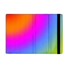 Radial Gradients Red Orange Pink Blue Green Apple Ipad Mini Flip Case by EDDArt