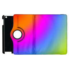 Radial Gradients Red Orange Pink Blue Green Apple Ipad 2 Flip 360 Case by EDDArt