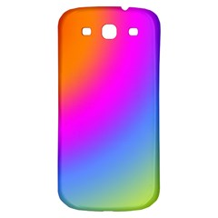 Radial Gradients Red Orange Pink Blue Green Samsung Galaxy S3 S Iii Classic Hardshell Back Case by EDDArt