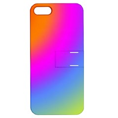 Radial Gradients Red Orange Pink Blue Green Apple Iphone 5 Hardshell Case With Stand by EDDArt