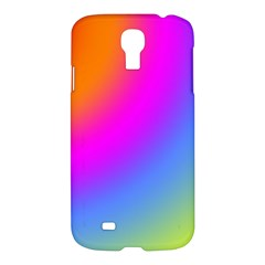 Radial Gradients Red Orange Pink Blue Green Samsung Galaxy S4 I9500/i9505 Hardshell Case by EDDArt