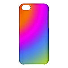 Radial Gradients Red Orange Pink Blue Green Apple Iphone 5c Hardshell Case by EDDArt
