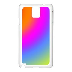Radial Gradients Red Orange Pink Blue Green Samsung Galaxy Note 3 N9005 Case (white) by EDDArt