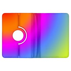 Radial Gradients Red Orange Pink Blue Green Kindle Fire Hdx Flip 360 Case by EDDArt
