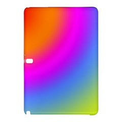 Radial Gradients Red Orange Pink Blue Green Samsung Galaxy Tab Pro 10 1 Hardshell Case by EDDArt