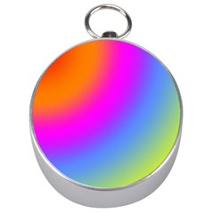 Radial Gradients Red Orange Pink Blue Green Silver Compasses by EDDArt