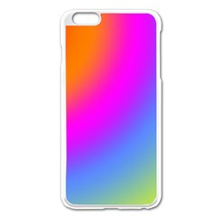 Radial Gradients Red Orange Pink Blue Green Apple Iphone 6 Plus/6s Plus Enamel White Case by EDDArt