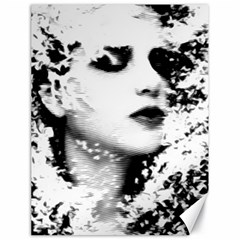 Romantic Dreaming Girl Grunge Black White Canvas 18  X 24