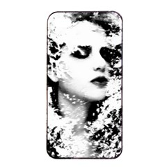 Romantic Dreaming Girl Grunge Black White Apple Iphone 4/4s Seamless Case (black)