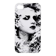 Romantic Dreaming Girl Grunge Black White Apple Iphone 4/4s Hardshell Case