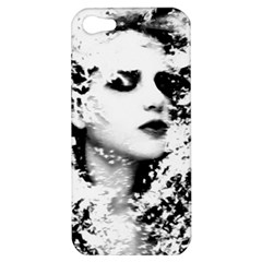 Romantic Dreaming Girl Grunge Black White Apple Iphone 5 Hardshell Case