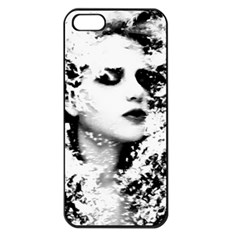 Romantic Dreaming Girl Grunge Black White Apple Iphone 5 Seamless Case (black)