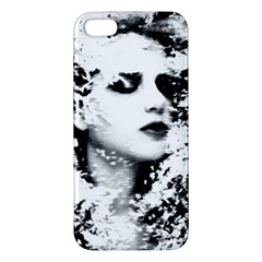 Romantic Dreaming Girl Grunge Black White Apple Iphone 5 Premium Hardshell Case