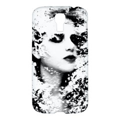 Romantic Dreaming Girl Grunge Black White Samsung Galaxy S4 I9500/i9505 Hardshell Case by EDDArt
