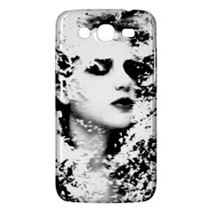 Romantic Dreaming Girl Grunge Black White Samsung Galaxy Mega 5 8 I9152 Hardshell Case  by EDDArt