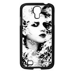 Romantic Dreaming Girl Grunge Black White Samsung Galaxy S4 I9500/ I9505 Case (black)