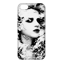 Romantic Dreaming Girl Grunge Black White Apple Iphone 5c Hardshell Case by EDDArt
