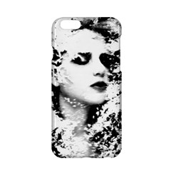 Romantic Dreaming Girl Grunge Black White Apple Iphone 6/6s Hardshell Case