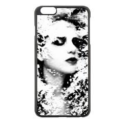 Romantic Dreaming Girl Grunge Black White Apple Iphone 6 Plus/6s Plus Black Enamel Case