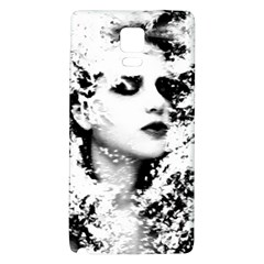 Romantic Dreaming Girl Grunge Black White Galaxy Note 4 Back Case by EDDArt