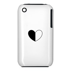 Yinyangheart Apple Iphone 3g/3gs Hardshell Case (pc+silicone) by Gamerchic