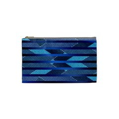 Abric Texture Alternate Direction Cosmetic Bag (small)  by AnjaniArt