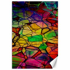 Abstract Squares Triangle Polygon Canvas 12  X 18   by AnjaniArt