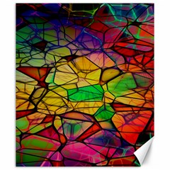 Abstract Squares Triangle Polygon Canvas 20  X 24   by AnjaniArt