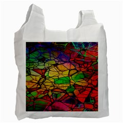 Abstract Squares Triangle Polygon Recycle Bag (two Side)  by AnjaniArt
