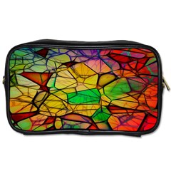 Abstract Squares Triangle Polygon Toiletries Bags 2 Side by AnjaniArt