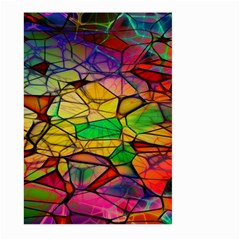 Abstract Squares Triangle Polygon Large Garden Flag (Two Sides) by AnjaniArt