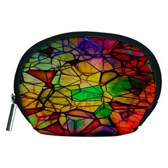 Abstract Squares Triangle Polygon Accessory Pouches (medium)  by AnjaniArt