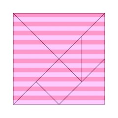 Fabric Baby Pink Shades Pale Acrylic Tangram Puzzle (6  x 6 ) by AnjaniArt
